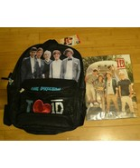 One Direction Backpack and 2 Pack Portfolios Folders 1D Sequin Glittery NWT - $41.99