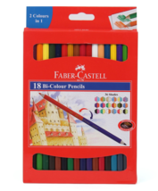 Faber-Castell Dual Sided Bi Color Pencils in Hexagonal Shape Set of 18, 36 shade - $9.48