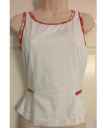 Lily's Of Beverly Hills  Small Tennis Fittness Tank Top Pink plaid Print... - $12.19
