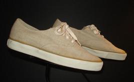 Cole Haan Sporting Beige Hopsack Weave Casual Cool Boat Shoe Sneaker Sz.... - $27.37