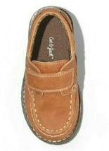 Cat & Jack Boys Toddler Brown Jacy Hook & Loop closure Loafer Shoes NWT image 3