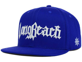 Legendary MFG Co. Long Beach Adjustable Snapback Snap Back Hat Cap White Blue