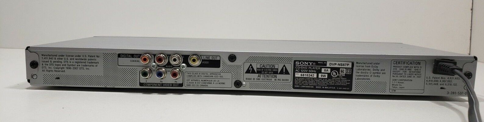 Sony CD/DVD Player DVP-NS57P with Remote... Tested image 6