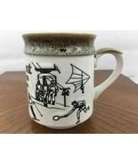 Etched Art Stoneware Fairmont British Columbia Canada Sport Japan Potter... - $28.04