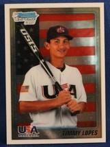 2010 Bowman Chrome Baseball Card #BDPP101 Timmy Lopes USA - $0.99