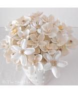 6 Seashell Flowers Bride Bouquet Beach Wedding Party Shell Floral Picks ... - $45.00