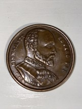 His Majesty Edward Vii Rare One Penny Medal Signed P.Pat See Pictures - $23.36