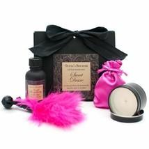 LITTLE BLACK BAG SWEET DESIRE  ROMANTIC ESSENTIALS KIT GIFT SET MASSAGE OIL - $35.27