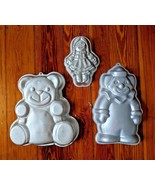 LOT OF 3 Wilton baking bake cake pan CLOWN TEDDY BEAR RAGGEDY ANN RAG DO... - $14.98