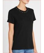 new Current/Elliott women The Glitter Rock tee t-shirt top sz 0 black MSRP - $54.09