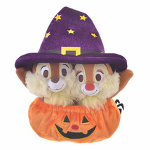 Disney Store Japan Chip 'n Dale Halloween Pumpkin Reversible Plush New w... - $22.02