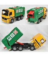 Bruder Mercedes Benz Green Garbage Dump Truck Model 4143 Vintage Toy  - $94.00