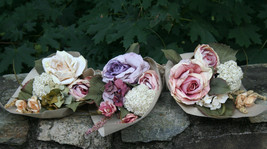 Wedding French Cottage Bridal Bouquet,rustic bouquet - $44.99