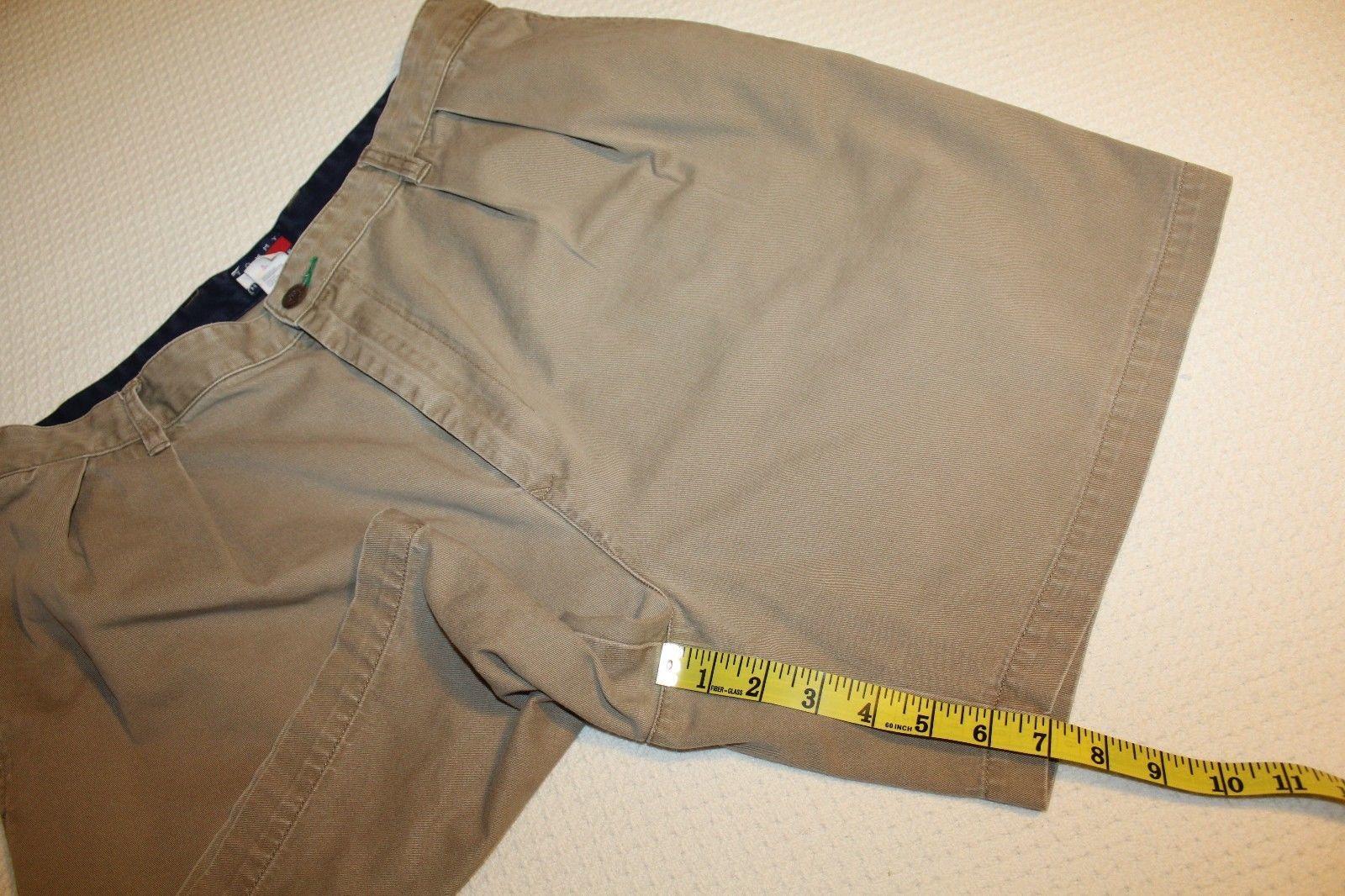 VINTAGE TOMMY HILFIGER Men's Size 38 (Actual 36) Khaki Tan Pleated Shorts GUC