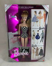 35th Anniversary Blonde Barbie Doll Reproduction 11590 Mattel 1993 - $63.85
