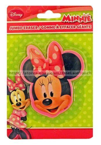 MINNIE MOUSE* Head Shaped JUMBO ERASER School/Office DISNEY Pink (Carded) 1b