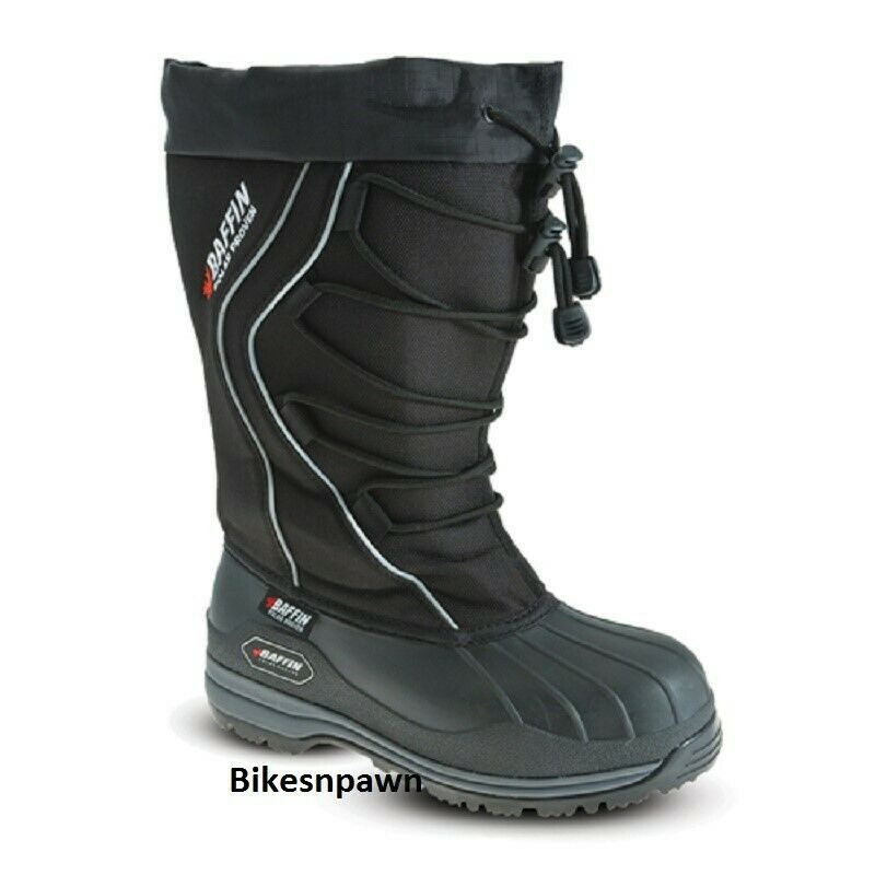 New Ladies Size 8 Black Baffin Icefield Snowmobile Winter Snow Boots -148F