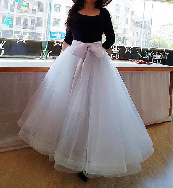 Slit Tulle Skirt Bridal Over Skirt White Layered Slit Open Skirt Wedding Outfits