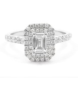 0.35CT Colorless Emerald Cut Moissanite 925 Sterling Silver Engagement Ring - $85.00