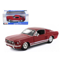 1967 Ford Mustang GT Red 1/24 Diecast Model Car by Maisto 31260r - $23.99