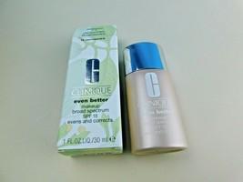 CLINIQUE EVEN BETTER MAKEUP 15 Cream Caramel M-G  1 OZ  FULL SIZE New W... - $19.69