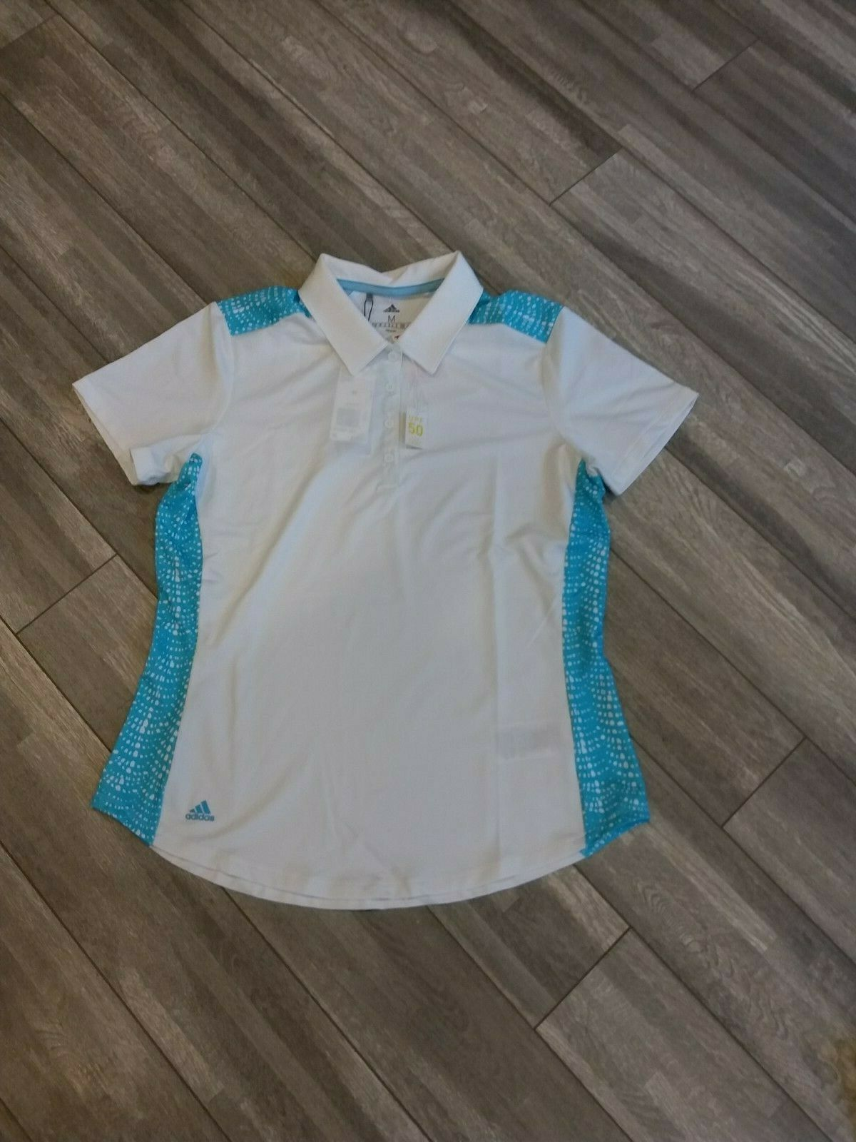 Primary image for New Womens Adidas Golf Polo SZ-M White MSRP $65 DQ0551