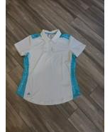 New Womens Adidas Golf Polo SZ-M White MSRP $65 DQ0551 - $45.00