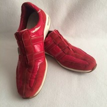 Cole Haan Womens Slip-on Athletic Shoes Size 8.5B Red No Lace Air Soles Sneakers - $47.50 CAD