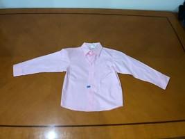 Boys Kids Nautica Light Pink Long Sleeve Button Down Shirt Size 7 - $8.90