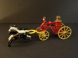 "All Original KENTON 3 Horses #1 Fire Engine Pump 10""1/2 Cast Iron 1930 - $595.00"