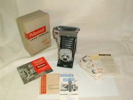 Polaroid model 80 land camera VG w box + 281 flash gun in box vintage - $60.00