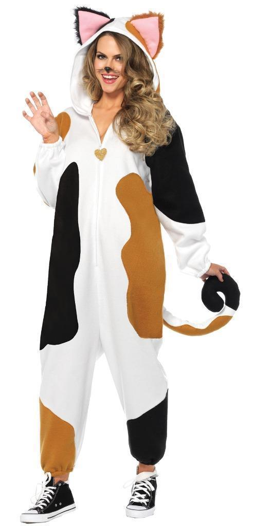 Cat Calico Kigarumi Funsie Womens Costume Adult One-Piece Halloween UA85567