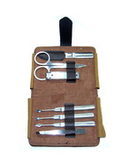 7 pcs Pedicure Manicure Set Nail Clippers Kit Case Travel Grooming Tool ... - $9.79
