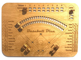 Baseball Dice Board Game, Dice Game, Family Game Night - $34.99