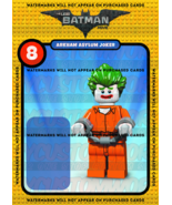 Lego Batman Movie Arkham Asylum Joker Custom Card Back - No Minifigure - $5.00