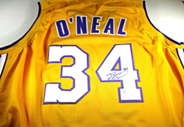 SHAQUILLE O'NEAL - NBA HALL OF FAME - HAND SIGNED LAKERS CUSTOM JERSEY -... - $138.55