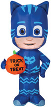 Airblown Catboy W/Trick Or Treat Pumpkin Prop Halloween Decoration Gemmy - $40.97