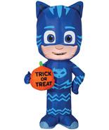 Airblown Catboy W/Trick Or Treat Pumpkin Prop Halloween Decoration Gemmy - $40.97