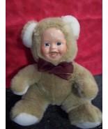 "BABY DOLL AS BEAR PLUSH 10"" CUTE AS CAN BE - $7.43"