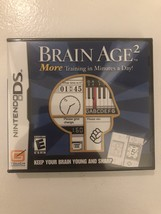 Brain Age 2: More Training in Minutes a Day (Nintendo DS, 2007) New Sealed - $8.90