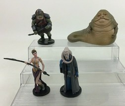 Star Wars Jabba The Hutt Toy Figures 4pc Lot Leia Guard Bib Fortuna Disney - $19.55