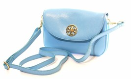 Tory Burch Robinson Cross Body Bag Morning Sky Light Blue Small Handbag ... - $238.26