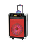 Supersonic 12 in. Portable Bluetooth DJ Speaker in Red - $211.68
