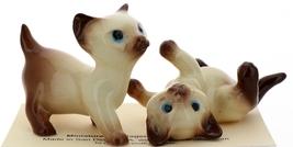 Hagen-Renaker Miniature Cat Figurine Siamese Large Kitten on Back and Walking