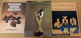 3 Books Making Wood Decoys, Flat Plane Carving Nativity, Carving Birds &... - $21.77