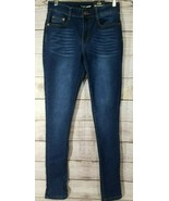 Fashion Nova Juniors Make Some Noise Skinny Jeans Size 7/8 Dark Wash Mid... - $27.15