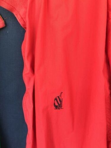 Nautica Reversible Jacket XL Red Striped Lightweight Coat Sailing Boat Vintage image 8