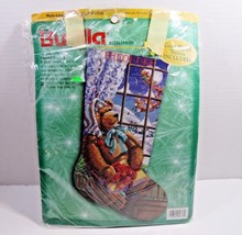 Christmas Holiday Bucilla Needlepoint Stocking Kit A GIFT FOR SANTA Rossi 60776 - $93.49