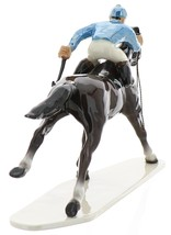 Hagen-Renaker Specialties Large Ceramic Figurine Race Horse with Jockey image 4