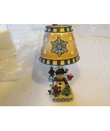 Home Interiors & Gifts Christmas Candlestick with decorative screen/tip - $26.63